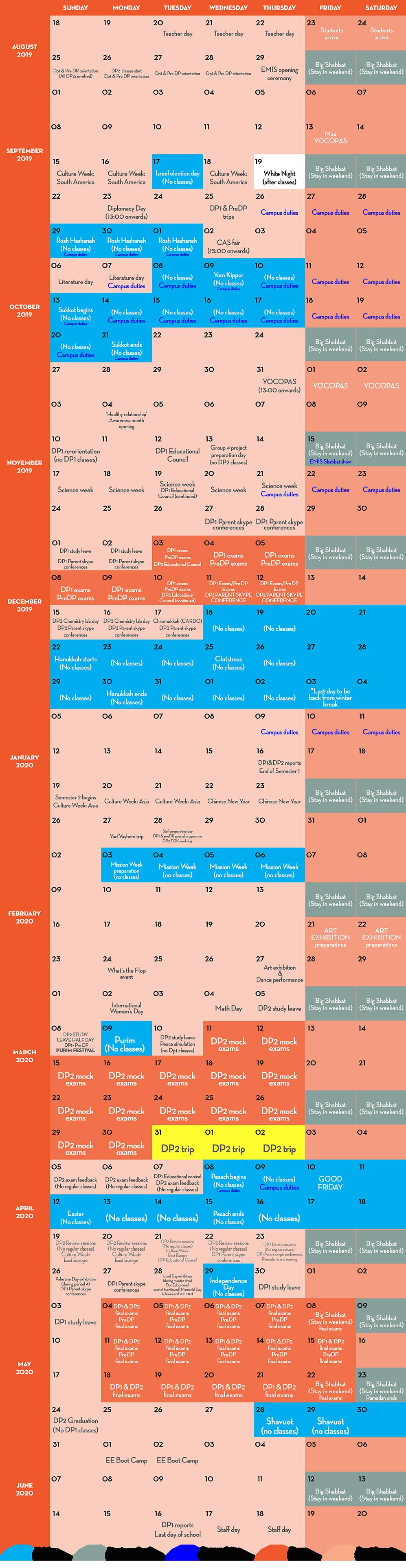 EMIS | SCHOOL FOR CHANGE | Calendar